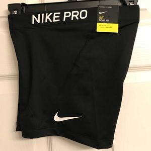 Nike Pro tight fit. 3 in length